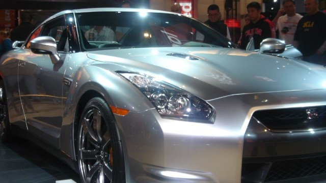 This Silver Nissan GTR for Sale At The Car Show
