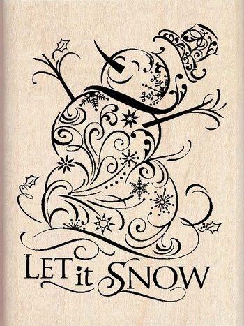 Hóember filigrán bélyeg ... lenne igazán aranyos festett zsákvászon vászon