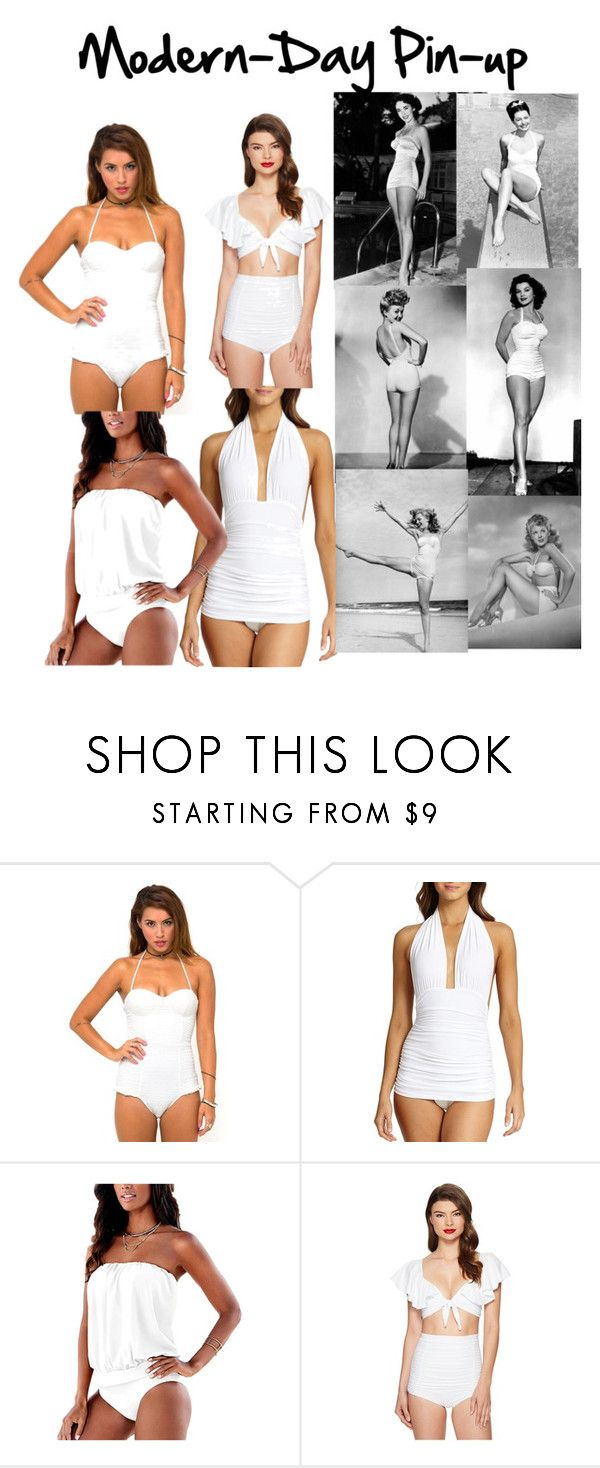 """""""Modern Pin-up"""" by dobesht ❤ liked on Polyvore featuring Motel, Norma Kamali, Unique Vintage and modern"""