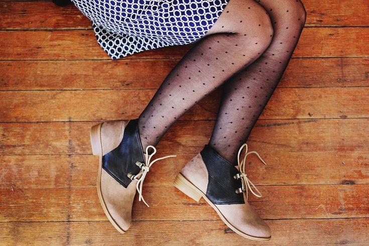 color blocked shoe DIY. hmmm....i wonder if forever 21 still has those little oxford shoes