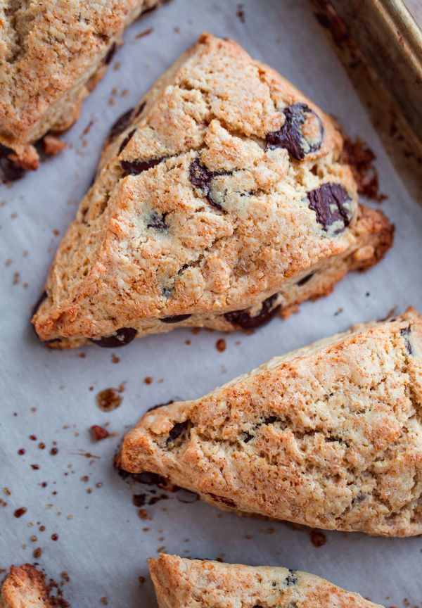 Brown Butter Chocolate Chip Scones @blogoverthyme