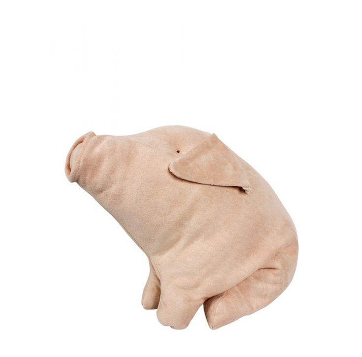 Grote knuffel varken