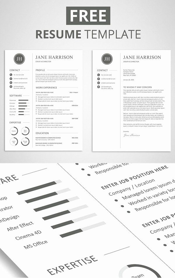 Elegant Resume Template Free Beautiful 15 Free Elegant Modern Cv Resume Templates Psd In 2020 Cover Letter For Resume Resume Template Free Downloadable Resume Template