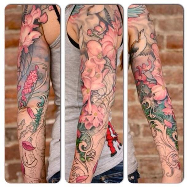 Art Nouveau Sleeve : Tattoos : Jeff Gogue. If I ever did a sleeve I think it would be similar :)