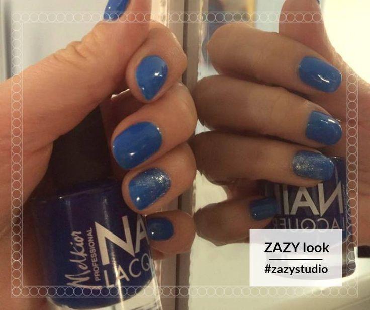 Îndrăznește să porți albastru!  Bucură-te de un preț care te va face să strălucești de sărbători: manichiură semipermanentă - 50 de lei! Get the ZAZY look: 0720.307.202 #zazystudio #zazylook #decembrie #cluj