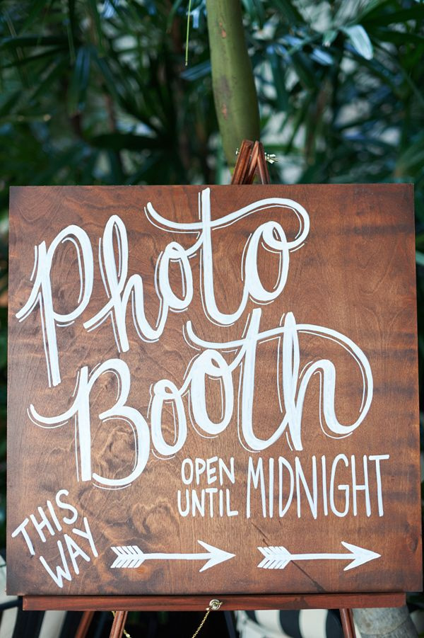 photo booth sign - photo by The Reason http://ruffledblog.com/modern-downtown-la-wedding