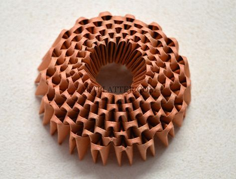 3D Origami cactus with flower - Tutorial • Art Platter