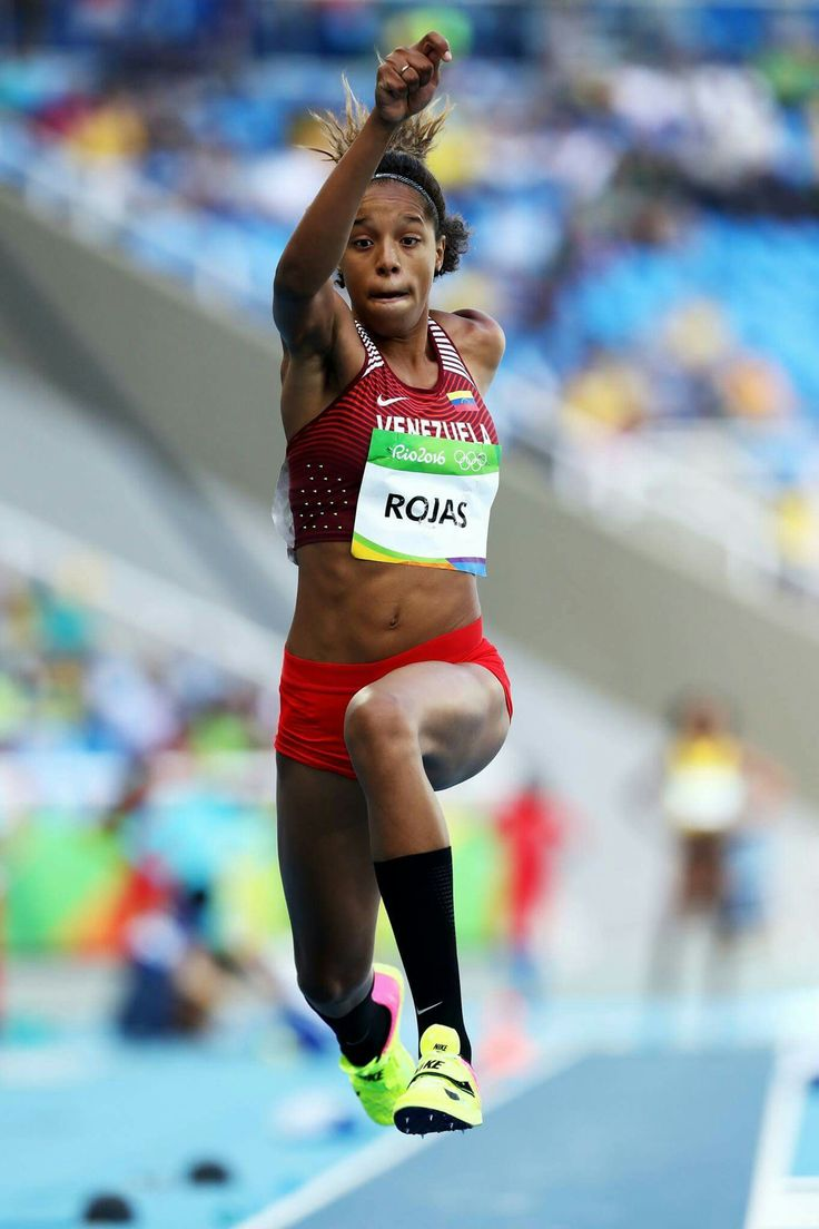 RIO DE JANEIRO, BRAZIL - AUGUST 13: Yulimar Rojas of Venezuela competes in Women's Triple Jump Qualifying on Day 8 of the Rio 2016 Olympic Games at the Olympic Stadium on August 13, 2016 in Rio de Janeiro, Brazil. (Photo by Alexander Hassenstein/Getty Images)