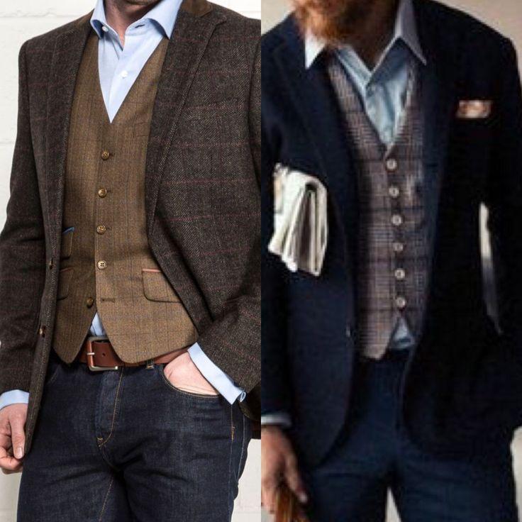 The new casualshirt jeans vest jacket  no tie  Menswear  Mens fashion Fashion Gq fashion