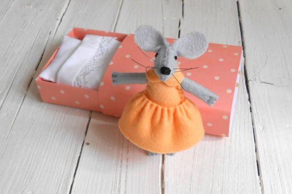 Newborn girl gift play set felt stuffies by atelierpompadour