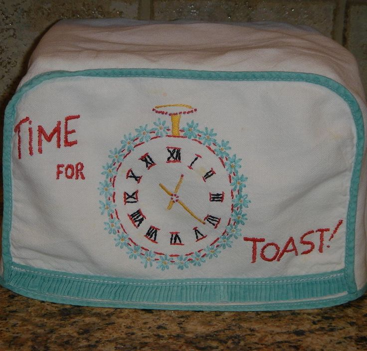 Time for Toast Vintage Toaster Cover