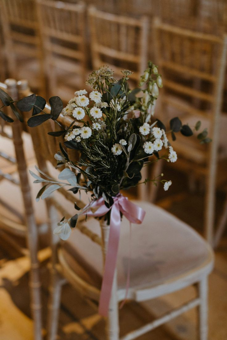 Floral Pew Ends - Tithe Barn Wedding | Jay Archer Floral Design | Bride in Watters | Images by Haydn Rydings