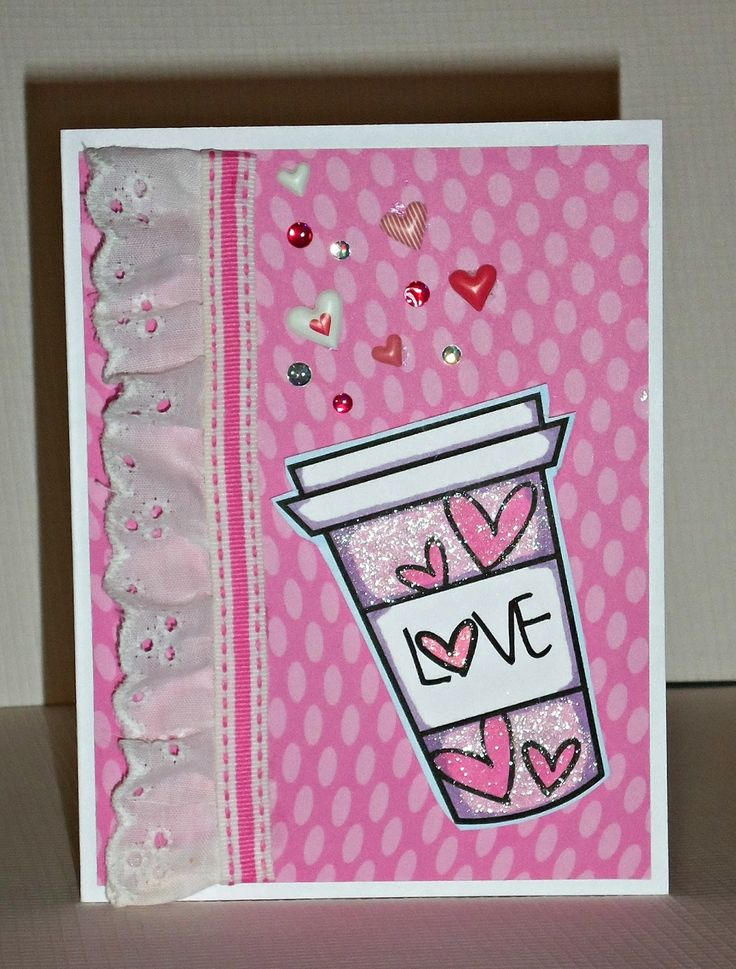 Handmade card by Janis using the Love From Me digital set by Verve. #vervestamps
