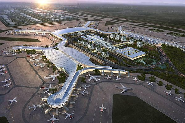 Terminal two will implement South Asia's architectural styles and an X-shaped design. Image courtesy of ©ADPI. - Image - Airport Technology