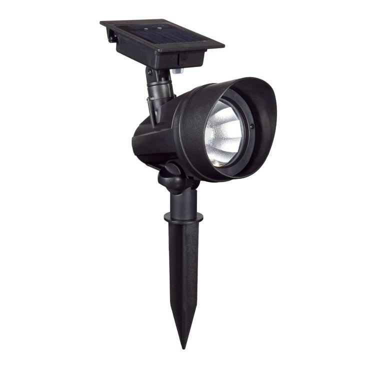 Solar Powered 1-Light LED Spot Light