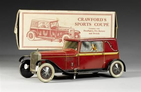 (Reuters) - A rare 1920s biscuit tin and its original contents were auctioned for 15,600 pounds in London The Sports Coupe car-shaped tin went for more than five times the pre-sale estimate,   Experts believe the William Crawford and Sons biscuit tin, sold to an anonymous private British collector, has now become the most expensive in the world.Its unusual shape always made the car an attractive item. see more below or via Ann Wardley