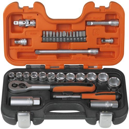 Bahco S330 Socket Set 34 Piece 1/4 and 3/8 Square Drive Bahco http://www.amazon.co.uk/dp/B0001JZRYY/ref=cm_sw_r_pi_dp_pXCRvb16ZHXWE