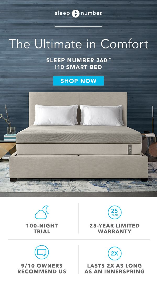 I10 Sleep Number 360 Smart Bed With Images Smart Bed Bed