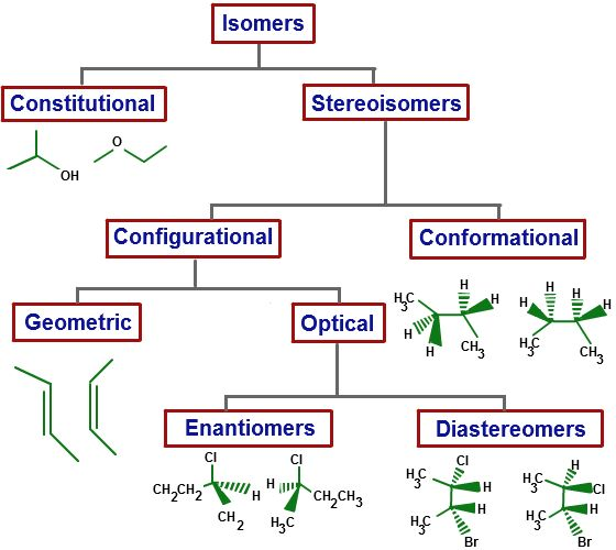 classification of carbon atoms | Both types of isomers can be further classified on the basis of their ...