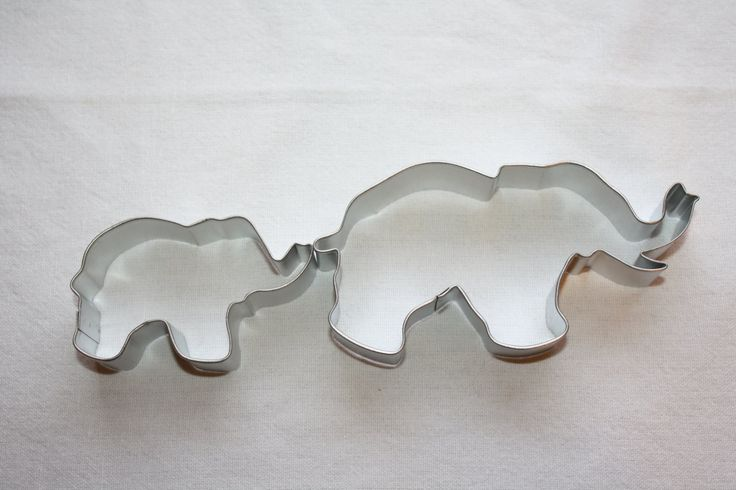 Mommy and Baby Elephant Cookie Cutter. $3.00, via Etsy. She has a lot of unique cookie cutters and sprinkles too!