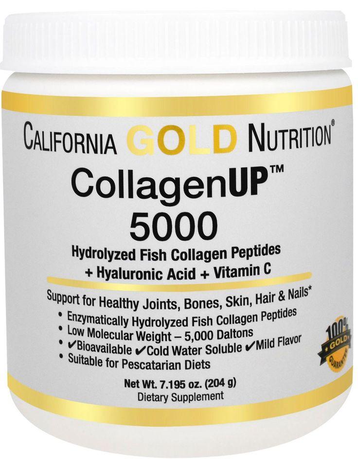 РЫБНЫЙ КОЛЛАГЕН CALIFORNIA GOLD NUTRITION Отзыв - http://tabaya.livejournal.com/1368.html California Gold Nutrition, CollagenUP™ 5000, Marine-Sourced Collagen Peptides + Hyaluronic Acid & Vitamin C, 7,195 унций (204 г) http://iherb.com/pr/California-Gold-Nutrition-CollagenUP-5000-Marine-Sourced-Collagen-Peptides-Hyaluronic-Acid-Vitamin-C-7-195-oz-204-g/64903?rcode=VBL204