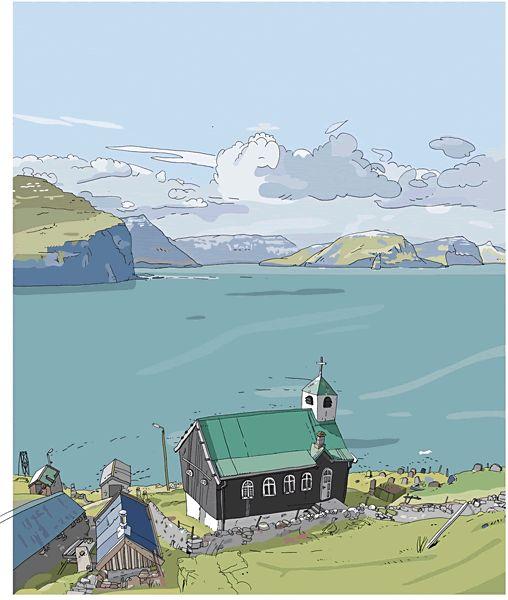 Olivier Kugler's Portfolio --- Travel Drawings --- Shetlands - Cuba