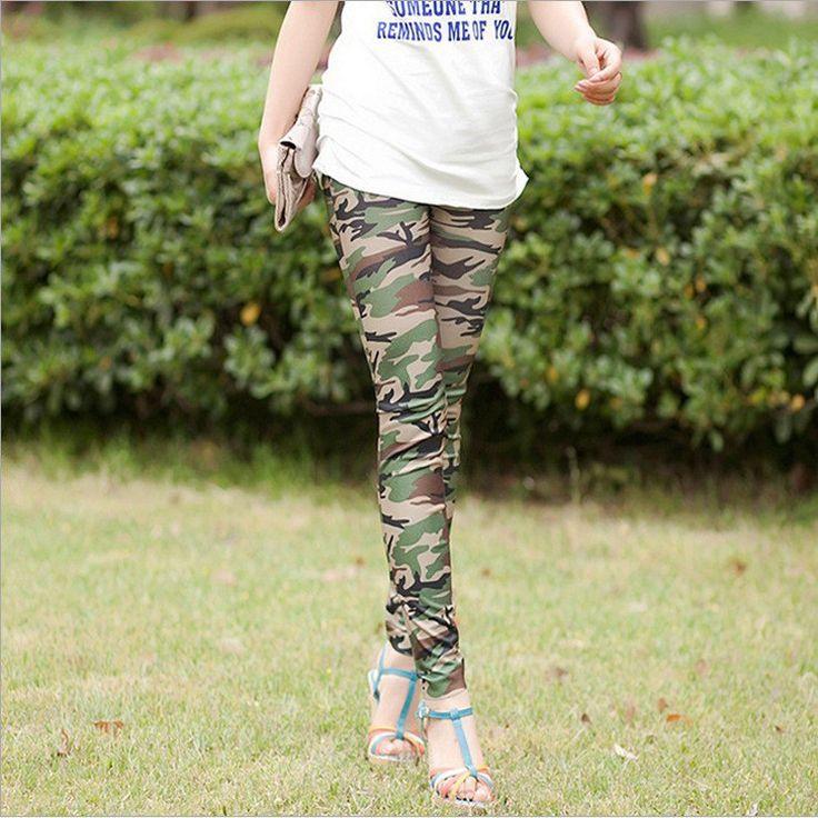 Camouflage Skinny Slim Elastic High Waist Leggings