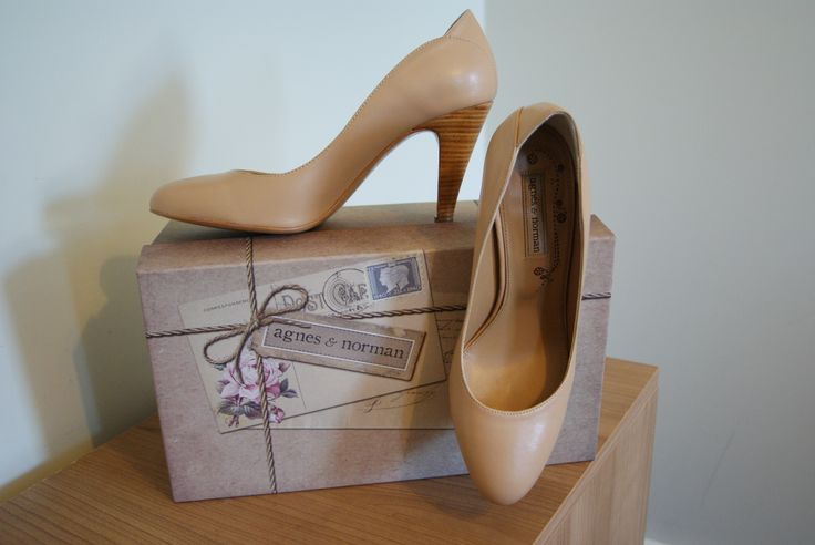 My wedding shoes and the shoebox Agnes & Norman, London