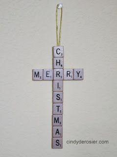 Cindy deRosier: My Creative Life: A Scrabble Merry Christmas Craft