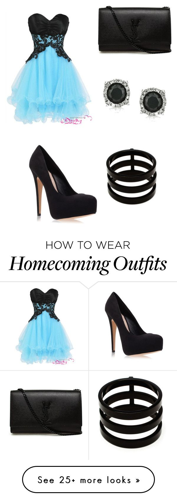 """Short Homecoming dress"" by theycallmepoopey on Polyvore featuring Carvela Kurt Geiger, Yves Saint Laurent, Mark Broumand and Repossi"