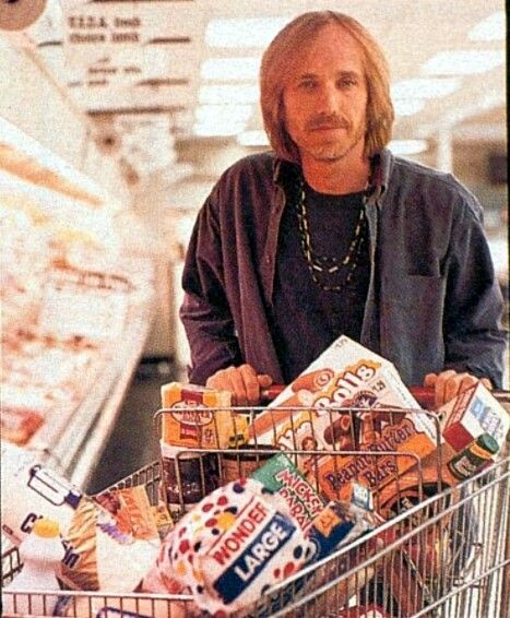 Ok. He bought food he probably grew up on. Too busy making great music to give much thought about....thick sliced Wonder bread...boxed and shelved sweet pastry...Wishbone salad dressing....velveeta or kraft cheese slices....