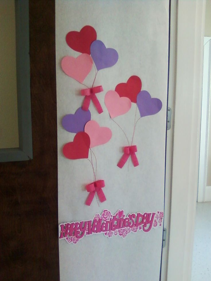 Simple valentine 39 s day classroom door school stuff for B day decoration ideas