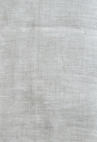 """""""Tuscany Linen, Oatmeal Slub"""" 57"""" wide 100% Linen A quality, medium weight linen with a more rustic, slubbed weave in a cream and beige blend. Weighs 10 ounces per linear yard (300 grams). Perfect for drapery, upholstery, apparel and many other home decor accessories. Machine wash, mild detergent, cold water, lay flat or hang to dry."""