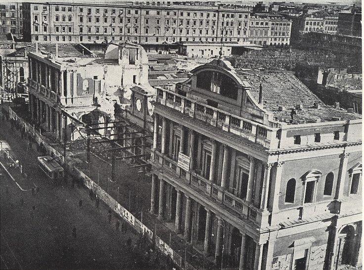 Vecchia Termini in corso di demolizione
