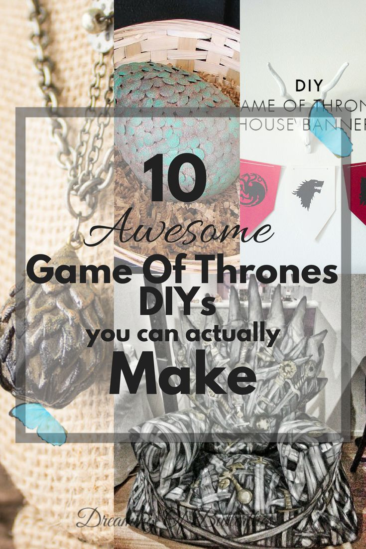 Game of Thrones fans! Look what we found! 10 awesome GOT DIYs you can actually make, with instructions and all! Winter is here!