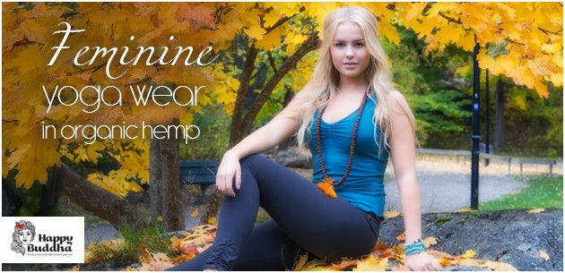 Organic hemp yoga clothing from Happy Buddha at the Nordic Angel Lifestyle. Prices from $45.