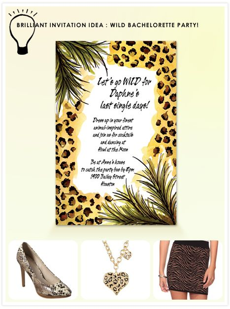 Wild Bachelorette Party - everyone wears leopard/ animal prints in honor of Michelle's obsession with leopard!!!!