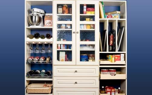 White Pantry Organizer-Organize Your Closet, Custom Closets, Closet Organizers- Tom Ferri's Closet Make Overs offers southwestern PA's Best Closet Organizer-http://www.closetsbytom.com