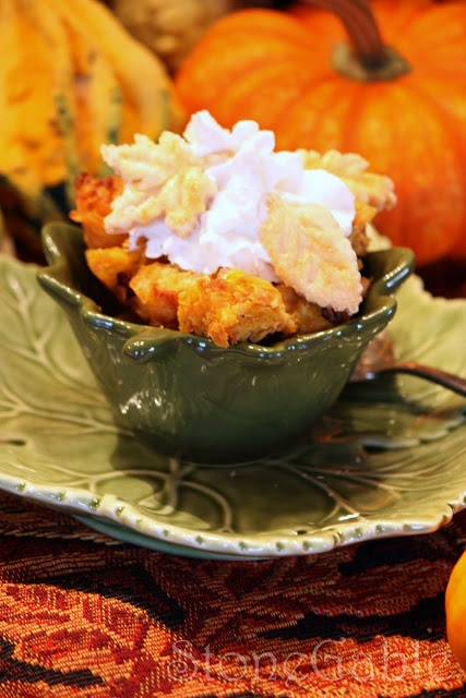 Pumpkin Bread Pudding | Fall Flavors | Pinterest