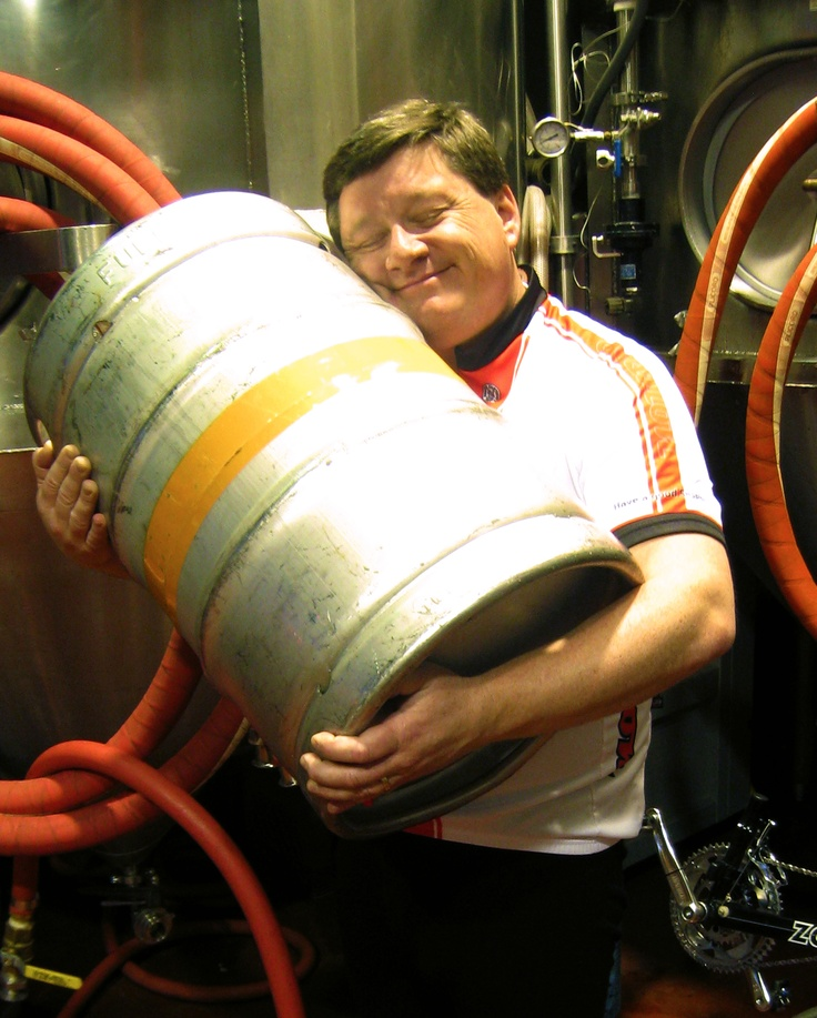 Full Sail brewmaster Jamie Emmerson showing his love of beer.