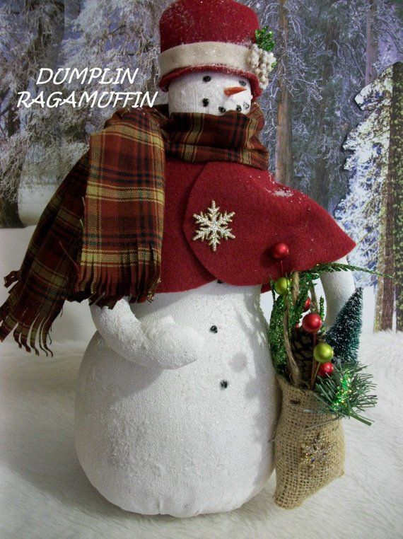 PATTERN, Primitive holiday Snow lady, home decor, Christmas decor