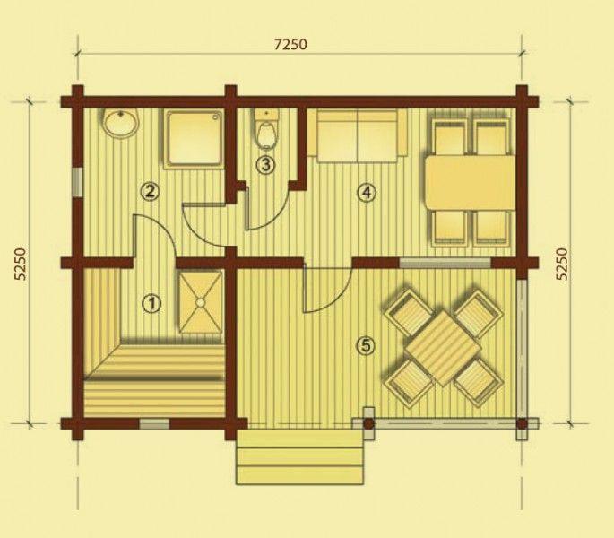 """Проект дома """"Баня-8"""""""