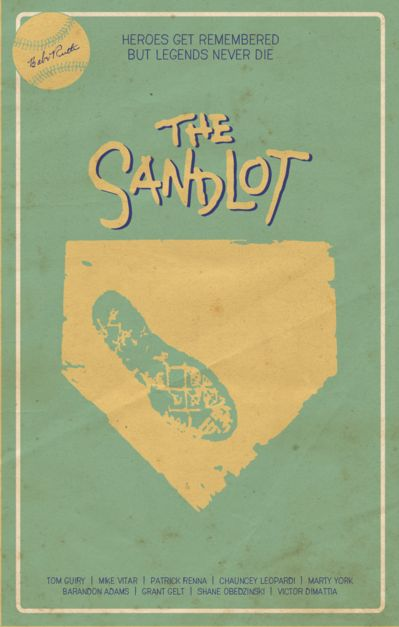 The Sandlot (1993) ~ Minimal Movie Poster by Ryan Trapp #amusementphile