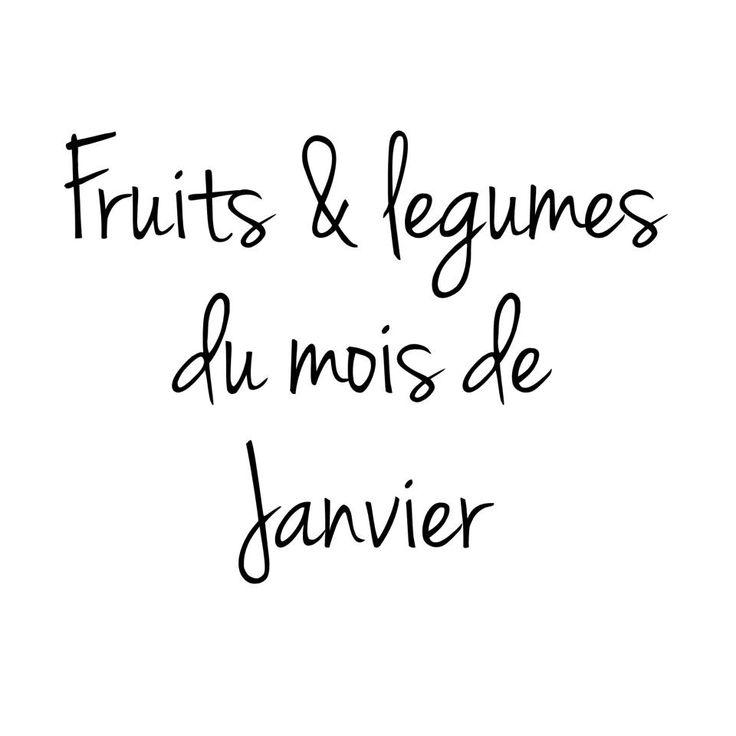 Fruits et légumes du mois de Janvier. Je vous dévoile tous les mois les fruits et légumes de saison afin de bénéficier d'un maximum de nutriment, de goûts.