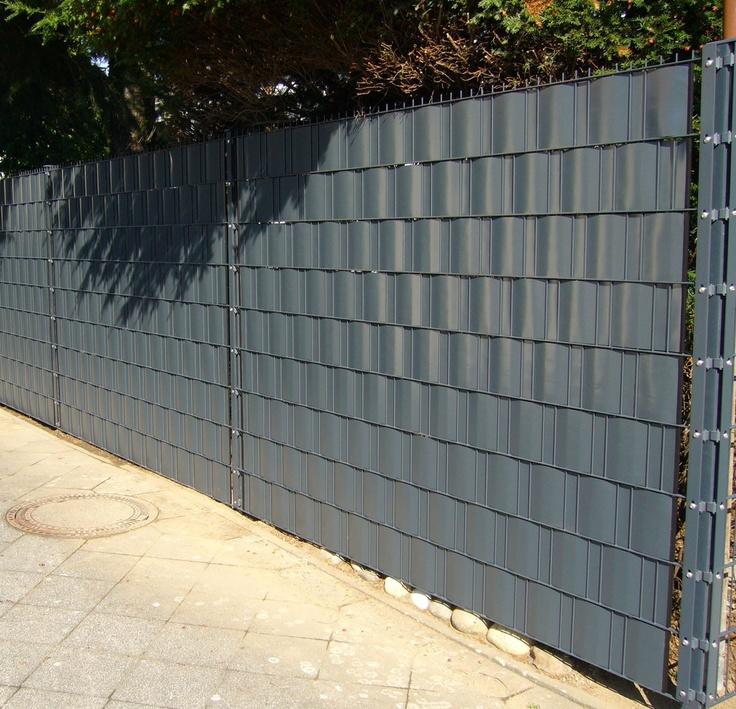 Sicht- und Windschutz für Gittermattenzäune