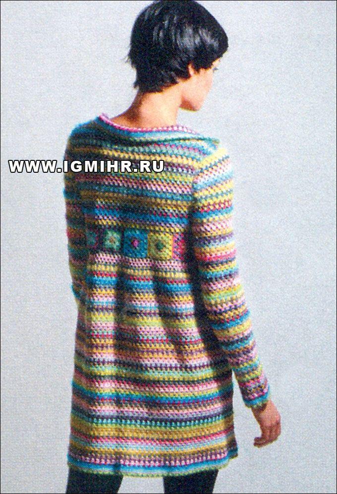 h?keln - crochet coat: Granny Squares Jackets, Coats Crochet, Crochet ...