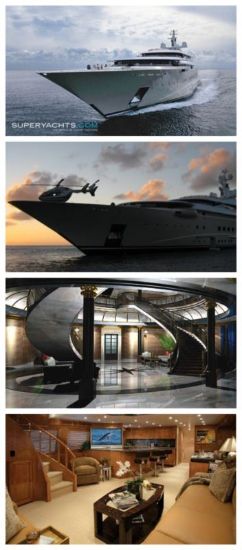5 Super Yachts That Will Blow Your Mind! This mega yacht also has a large pool, Jacuzzi, and numerous toys and tender on board. Click to see more. #spon #video #luxury
