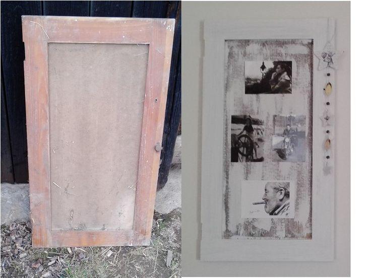 Before → After  Předtím dvířka od skřínky, potom rám na fotky