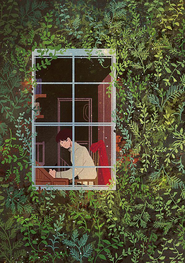 """""""어떻게 이야기는 생명을 얻고 시간의 흐름에서 자유로울까?"""" 그는 펜을 멈추고 오랫동안 생각에 잠겼다. 314/365"""