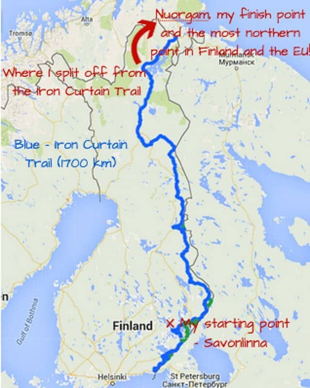 How To Cycle The Eurovelo 13 Alone Across Finland Cycling Trips